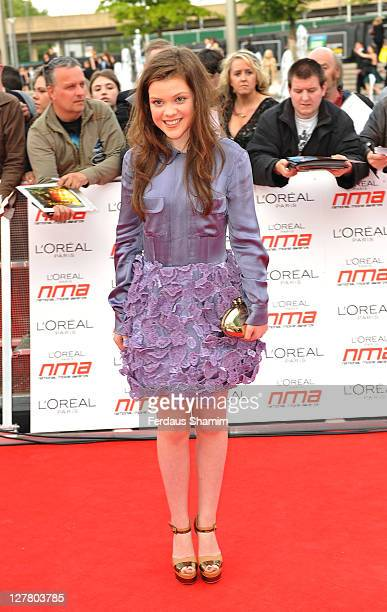 Georgie Henley arrives at 'National Movie Awards' at Wembley Arena on May 11 2011 in London England