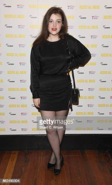 Georgie Henley arrives at the 'Access All Areas' VIP gala screening held at Proud Camden on October 17, 2017 in London, England.