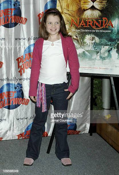 Georgie Henley during The Cast of The Chronicles of Narnia Donates Memorabila at Planet Hollywood in Times Square December 9 2005 at Planet Hollywood...