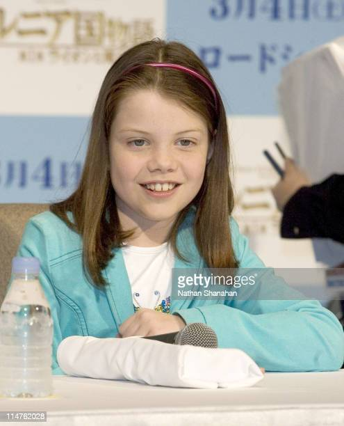 Georgie Henley during The Chronicles of Narnia The Lion the Witch and the Wardrobe Tokyo Press Conference at Park Hyatt Tokyo in Tokyo Japan