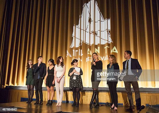 Georgie Henley Evan Kuzma Willa Cuthrell Kara Hayward Brantly Watts Caryn Waechter Elizabeth Cuthrell and David Urrutia attend 2015 Atlanta Film...