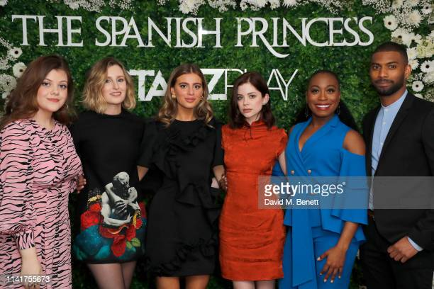 Georgie Henley Laura Carmichael Nadia Parkes Charlotte Hope Stephanie LeviJohn and Aaron Cobham attend an exclusive screening for STARZPLAY's 'The...
