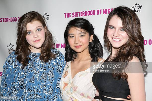 Georgie Henley Willa CuthrellTuttleman and Kara Hayward attend 'The Sisterhood Of The Night' NY Premiere and After Party on April 2 2015 in New York...