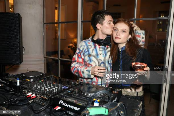 Georgie Hobday and Louie Banks attend Rankin Unfashionable 30 Years Of Fashion Photography hosted by Jefferson Hack Katie Grand Sharan Pasricha at...