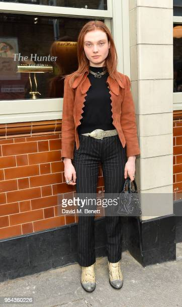 Georgie Hobday attends the Hunter x All Points East Festival kickoff party on May 3 2018 in London England