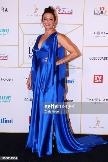 Georgie Parker arrives at the 60th Annual Logie Awards at The Star Gold Coast on July 1 2018 in Gold Coast Australia