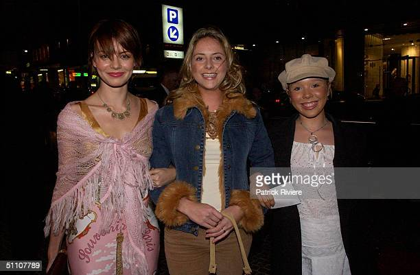 Georgie Shew Natasha Lee and guest at the opening night of the musical 'What the World Needs Now' at the Theatre Royal in Sydney