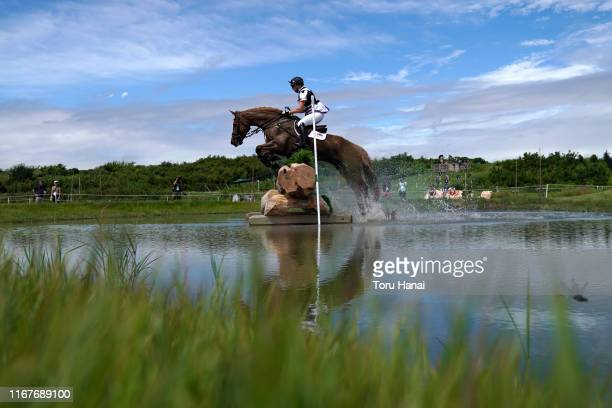 Georgie Spence of Great Britain riding Halltown Harley competes in the Cross-Country during day two of the Equestrian Tokyo 2020 Test Event at Sea...