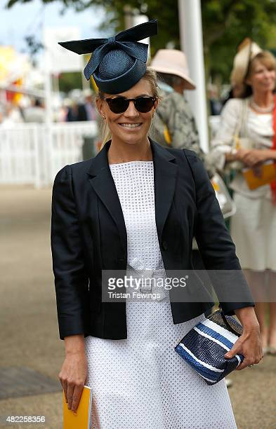Georgie Thompson attends on day two of the Qatar Goodwood Festival at Goodwood Racecourse on July 29 2015 in Chichester England