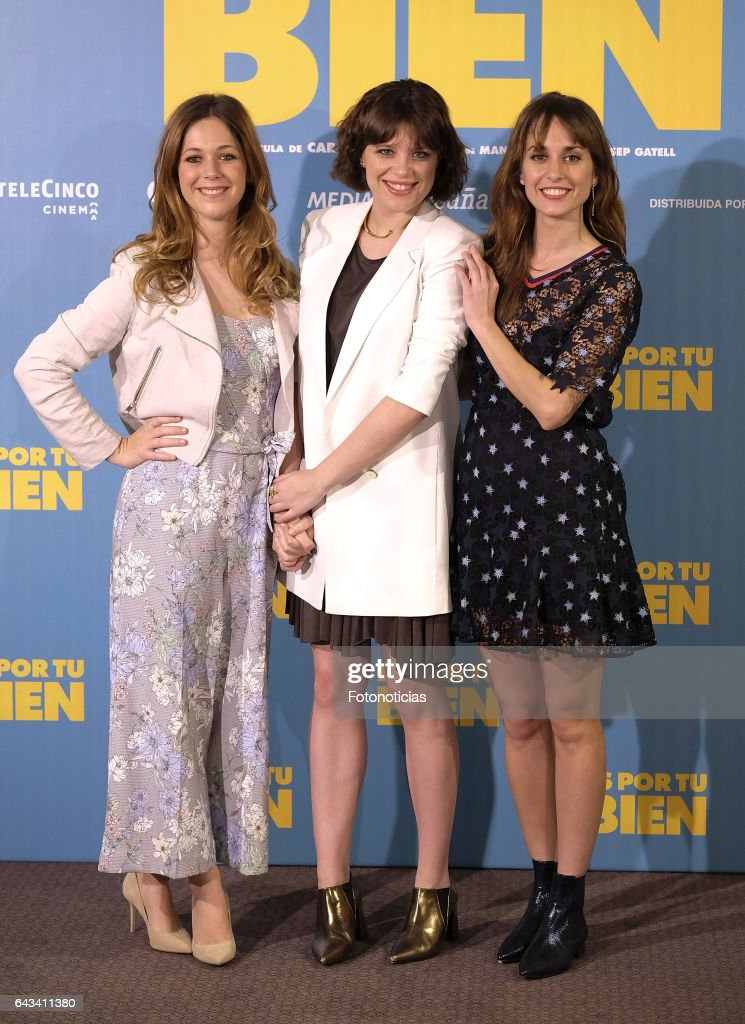 Georgina Amoros, Andrea Ros and Silvia Alonso attend a photocall for 'Es Por Tu Bien' at the Hesperia Hotel on February 21, 2017 in Madrid, Spain.