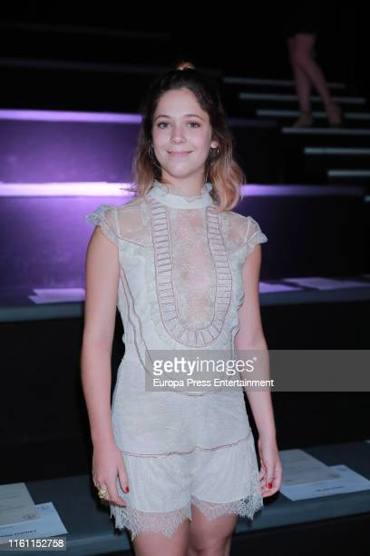 Georgina Amoros attends Teresa Helbig fashion show during the Mercedes Benz Fashion Week Spring/Summer 2020 on July 09 2019 in Madrid Spain