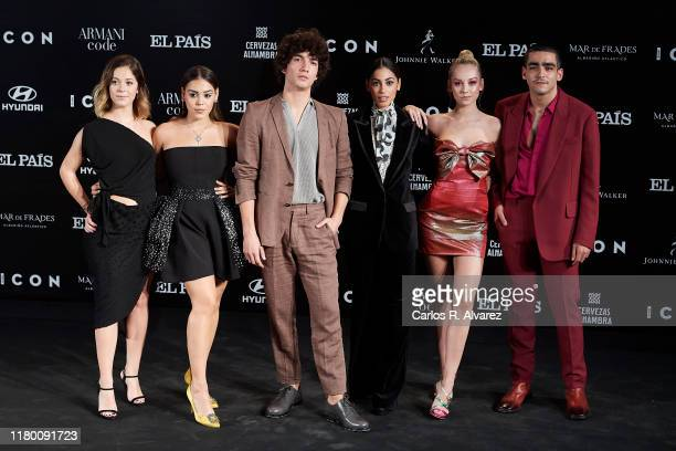 Georgina Amoros Danna Paola Jorge Lopez Mina El Hammani Ester Exposito and Omar Ayuso attend 'ICON' magazine awards at Real Fabrica de Tapices on...