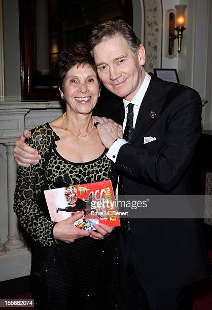 Georgina Andrews and Anthony Andrews attend the press night performance of 'Scrooge The Musical' at the London Palladium on November 6 2012 in London...