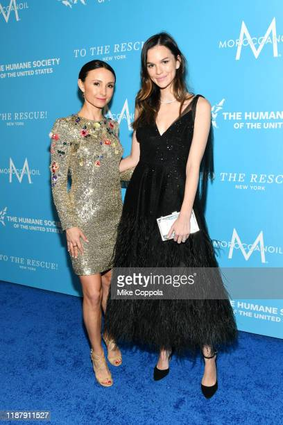 Georgina Bloomberg and Allie Rizzo arrives to the Humane Society Of The United States To The Rescue! New York Gala 2019 at Cipriani 42nd Street on...