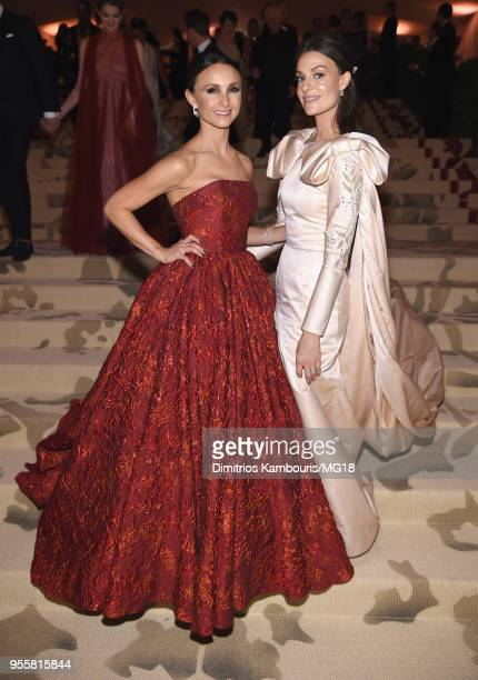 Georgina Bloomberg and Ariana Rockefeller attend the Heavenly Bodies Fashion The Catholic Imagination Costume Institute Gala at The Metropolitan...