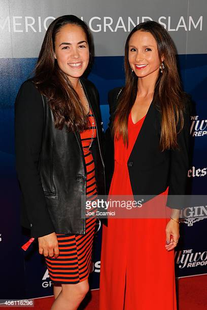 Georgina Bloomberg and Brianne Goutal arrive at the Longines Los Angeles Masters Opening Gala Evening at Los Angeles Convention Center on September...