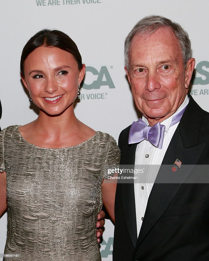 Georgina Bloomberg and father NYC Mayor Michael Bloomberg attend the New Yorker's For Children's 10th Anniversary A Fool's Fete Spring Dance at Mandarin Oriental Hotel on April 9, 2013 in New York City.