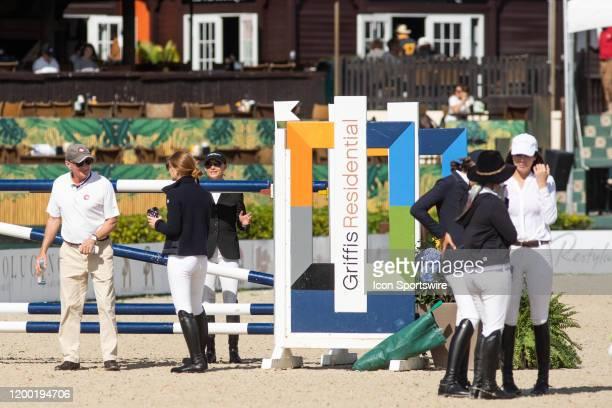 Georgina Bloomberg and Jennifer Gates during the Winter Equestrian Festivals $73,000 FEI CaptiveOne Advisors1.50m Classic at The Palm Beach...