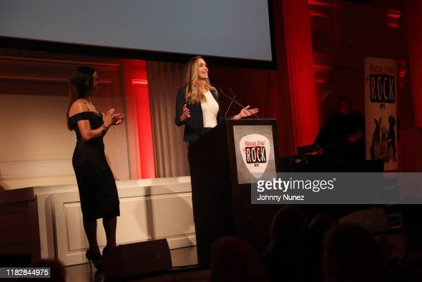 Georgina Bloomberg and Lara Trump appear onstage at the Rescue Dogs Rock NYC Second Annual Gala on October 22, 2019 in New York City.