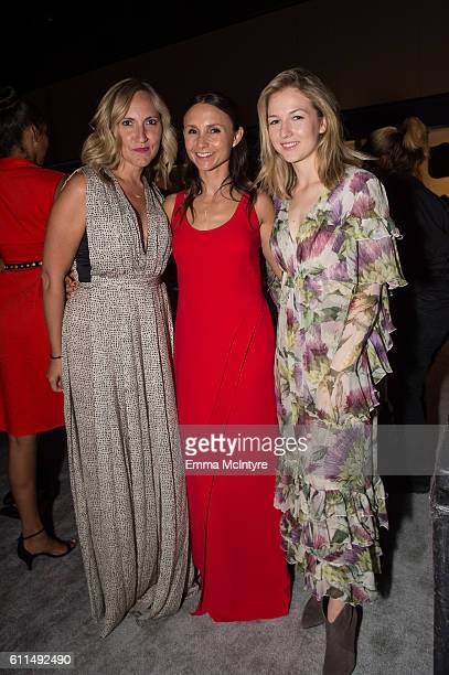 Georgina Bloomberg and Lucy Davis US Olympic team silver medalist attend the Longines Masters Los Angeles at Long Beach Convention Center on...