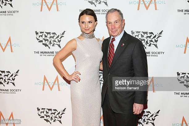 Georgina Bloomberg and Mayor Michael Bloomberg attend The Humane Society of the United States' To the Rescue New York Gala at Cipriani 42nd Street on...