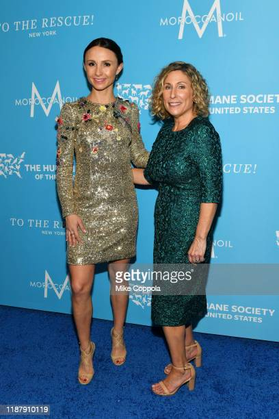 Georgina Bloomberg and the Humane Society of the United States President & CEO Kitty Block arrive to the Humane Society Of The United States To The...