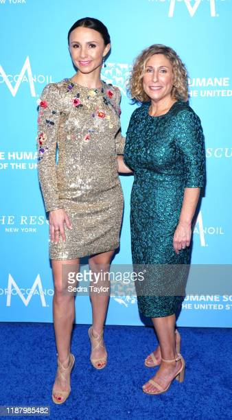 Georgina Bloomberg and The Humane Society of the United States President & CEO Kitty Block at Cipriani 42nd Street on November 15, 2019 in New York...