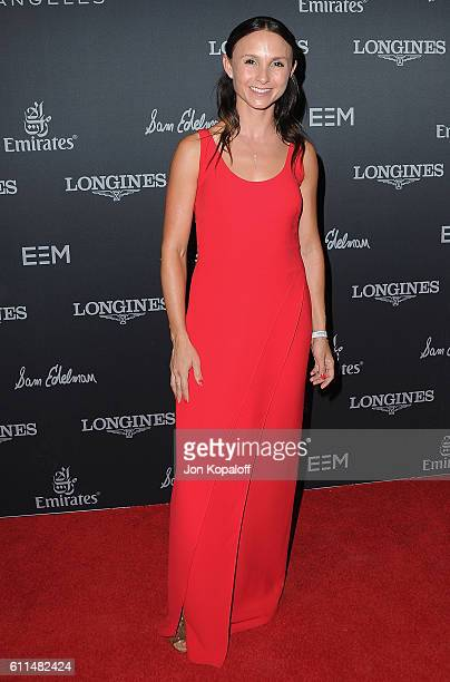 Georgina Bloomberg arrives at Longines Masters Los Angeles Gala at Long Beach Convention Center on September 29 2016 in Long Beach California