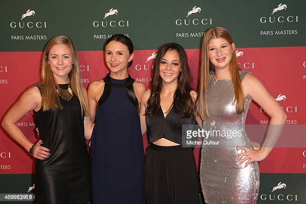 Georgina Bloomberg Chloe Reed Alex Crown and Jennifer Gates attend the Gucci Paris Master day 1 on December 4 2014 in Villepinte France