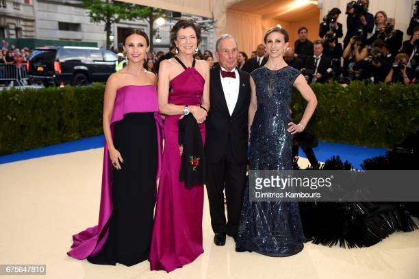 Georgina Bloomberg Diana Taylor Michael Bloomberg and Emma Bloomberg attends the Rei Kawakubo/Comme des Garcons Art Of The InBetween Costume...