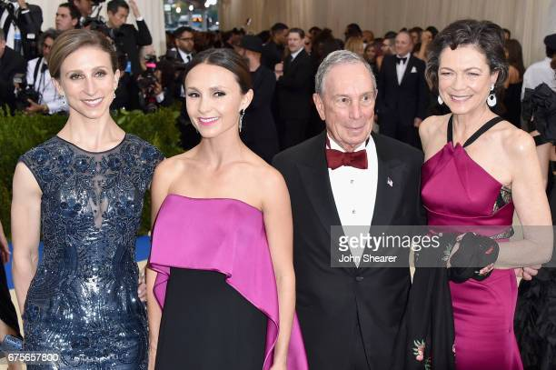 Georgina Bloomberg Diana Taylor Michael Bloomberg and Emma Bloomberg attend the Rei Kawakubo/Comme des Garcons Art Of The InBetween Costume Institute...
