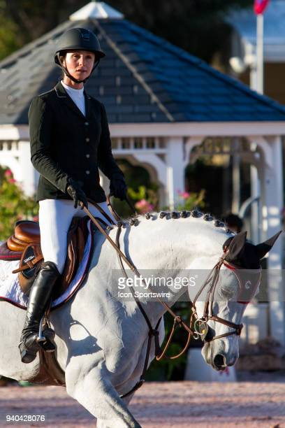Georgina Bloomberg during the $35000 Bainbridge 145M Classic at the Winter Equestrian Festival on March 30 2018 at The Palm Beach International...