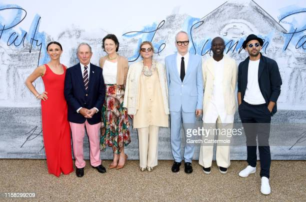 Georgina Bloomberg Michael Bloomberg Diana Taylor Lady Elena Foster HansUlrich Obrist Sir David Adjaye and JR attend The Summer Party 2019 Presented...