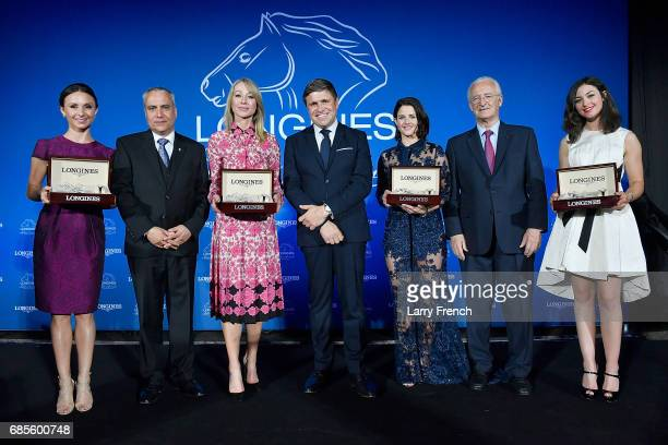 Georgina Bloomberg Mr Ingmar de Vos Belinda Stronach Mr JuanCarlos Capelli Michelle Payne Mr Louis Romanet and Reed Kessler attend the Longines...