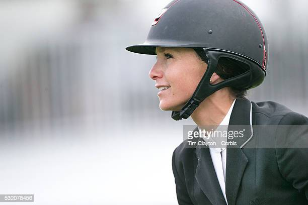 Georgina Bloomberg USA riding Washington Square in action during The $50000 Old Salem Farm Grand Prix presented by The Kincade Group at the Old Salem...