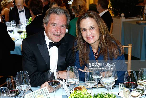 Georgina Brandolini d'Adda and guest attend the 27th 'Biennale des Antiquaires' Pre Opening at Le Grand Palais on September 9 2014 in Paris France