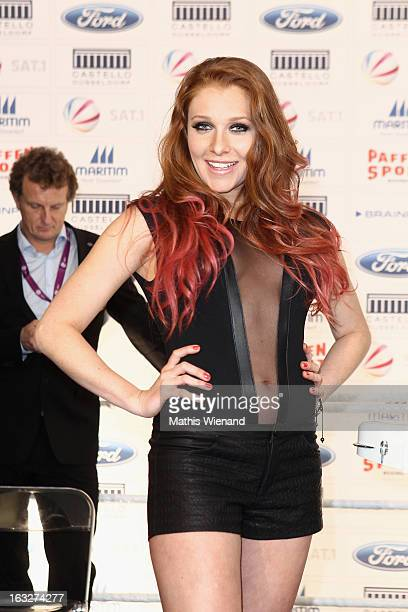 Georgina Buelowius attends the Offical Weighing And Photocall of 'Das Grosse Sat1 Promiboxen' on March 6 2013 in Dusseldorf Germany