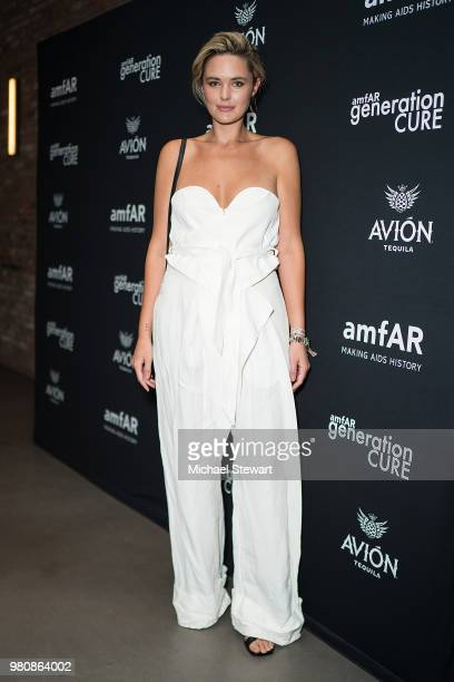 Georgina Burke attends amfAR GenCure Solstice 2018 at SECOND on June 21 2018 in New York City