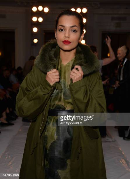 Georgina Campbell attends the Jasper Conran show during London Fashion Week September 2017 on September 16 2017 in London England