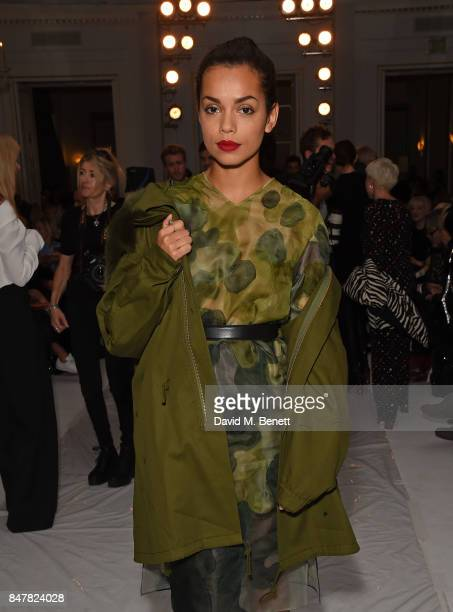 Georgina Campbell attends the Jasper Conran SS18 catwalk show during London Fashion Week September 2017 on September 16 2017 in London United Kingdom