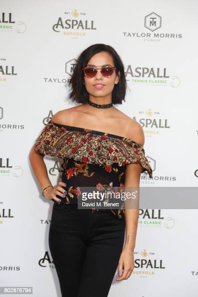 Georgina Campbell attends the Taylor Morris Eyewear x Aspall Tennis Classic Player's Party at Bluebird Chelsea on June 28 2017 in London England