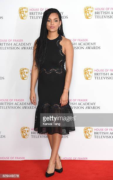 Georgina Campbell poses in the winners room at the House Of Fraser British Academy Television Awards 2016 at the Royal Festival Hall on May 8 2016 in...