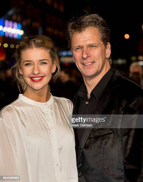 Georgina Castle and Andrew Castle attend the UK Premiere of Jack Ryan Shadow Recruit at Vue Leicester Square on January 20 2014 in London England