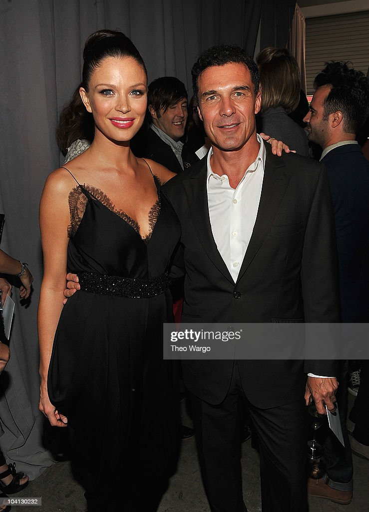 Georgina Chapman and Andre Balazs attend Marchesa S/S 2011 Presentation at Chelsea Art Museum on September 15, 2010 in New York City.