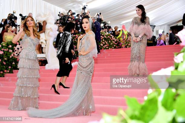 Georgina Chapman and Constance Wu attend The 2019 Met Gala Celebrating Camp Notes on Fashion at Metropolitan Museum of Art on May 06 2019 in New York...