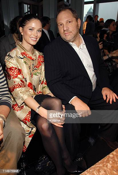 Georgina Chapman and Harvey Weinstein during Dior Presents the 2007 Cruise Collection Dinner at Four Seasons in New York City New York United States