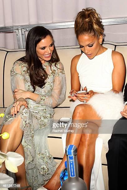 Georgina Chapman and Jennifer Lopez attend The Weinstein Company Netflix's 2015 Golden Globes After Party presented by FIJI Water Lexus Laura Mercier...