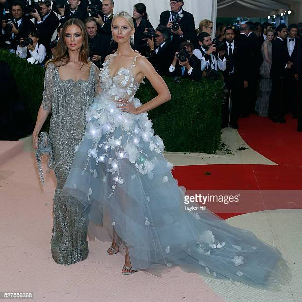 Georgina Chapman and Karolina Kurkova attend Manus x Machina Fashion in an Age of Technology the 2016 Costume Institute Gala at the Metropolitan...