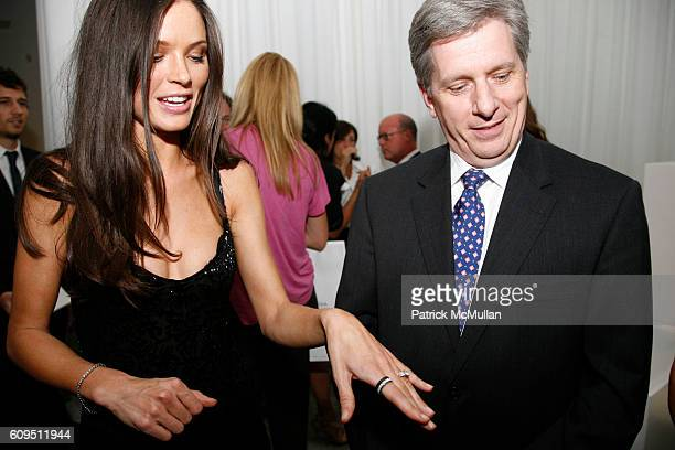 Georgina Chapman and Larry Boland attend PIAGET at MARCHESA Spring 2008 Presentation at Chelsea Art Museum on September 5 2007 in New York