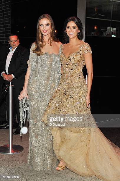 Georgina Chapman and Nina Dobrev are seen arriving at The Standard High Line on May 2 2016 in New York City